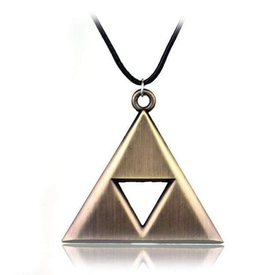 Bronze Triforce Necklace anime-store