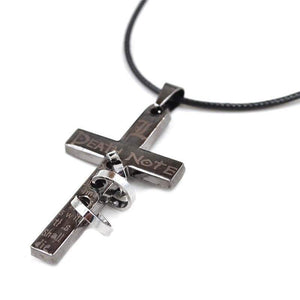 Death Note Letter L Cross Necklace anime-store
