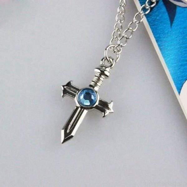 Fairy Tail Cross Necklace anime-store
