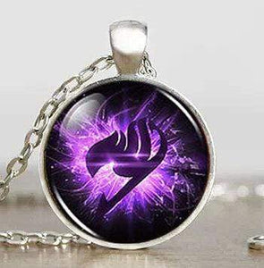 Fairy Tail Guild Purple Wing Necklace anime-store