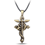 Fullmetal Alchemist Bronze Cross Necklace anime-store