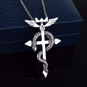 Fullmetal Alchemist Edward Elric Cross Necklace! anime-store