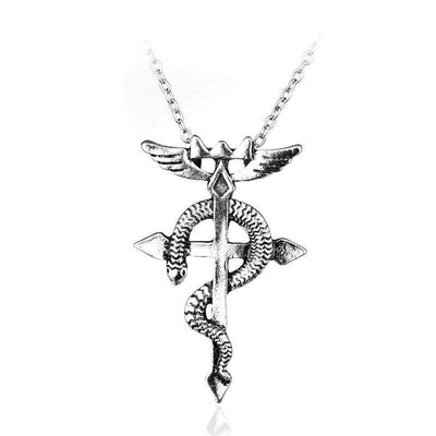 Fullmetal Alchemist Silver Cross Necklace anime-store