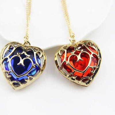 Heart Container Necklace Blue/Red anime-store