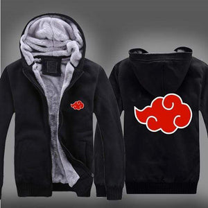 Naruto Akatsuki Fleece Zip Jacket anime-store