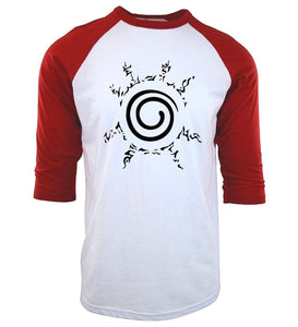 Naruto Fox Seal Baseball Tee anime-store