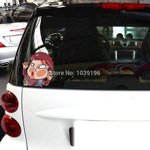Naruto Gaara Hitting the Glass Stickers Car Decal anime-store