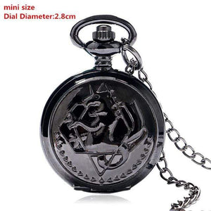 New Mini Black FMA Pocket Watch! anime-store