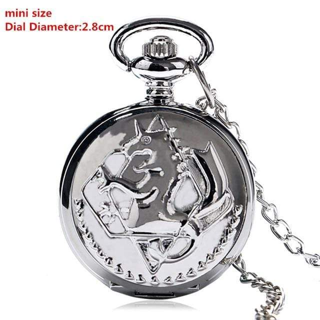 New Mini Silver FMA Pocket Watch! anime-store