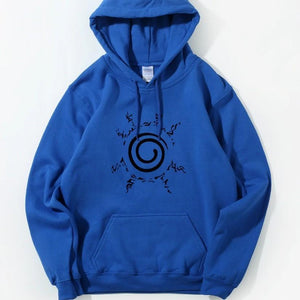New Naruto Seal Hoodies Blue anime-store