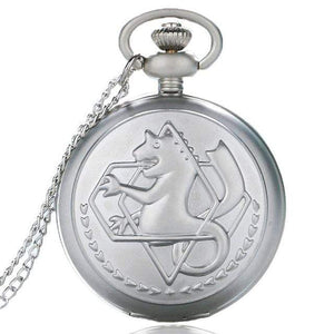 New Style Brushed Silver FMA Pocket Watch anime-store