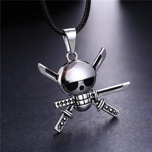 One Piece Silver Plated Necklace anime-store