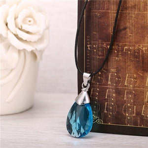 SAO Blue Crystal Necklace anime-store