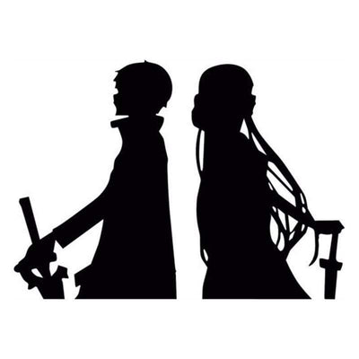 Sword Art Online (Sao) Kirito Asuna Car Sticker/Laptop Decal anime-store