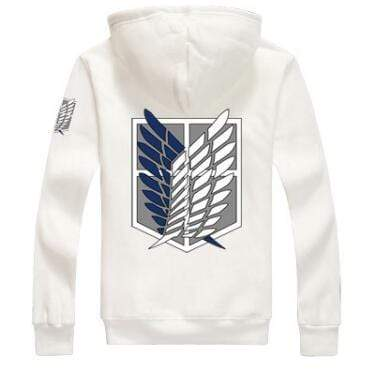 White Attack on Titan Hoodie anime-store