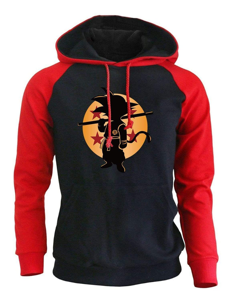 Young Goku Red/Black Hoodie anime-store