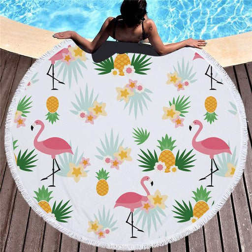 Towel: Flamingos & Pineapples - Towels - Elements of Summer