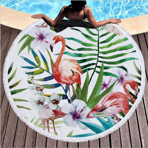 Towel: Flamingos & Flowers - Towels - Elements of Summer