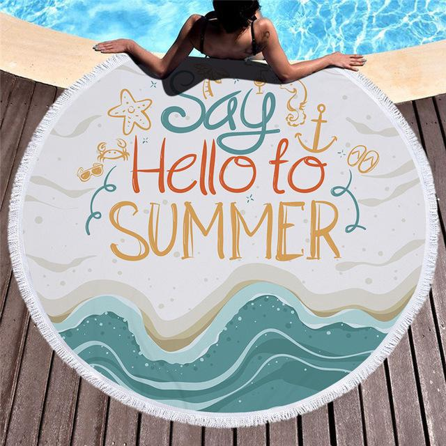 Towel: Say Hello to Summer - Towels - Elements of Summer