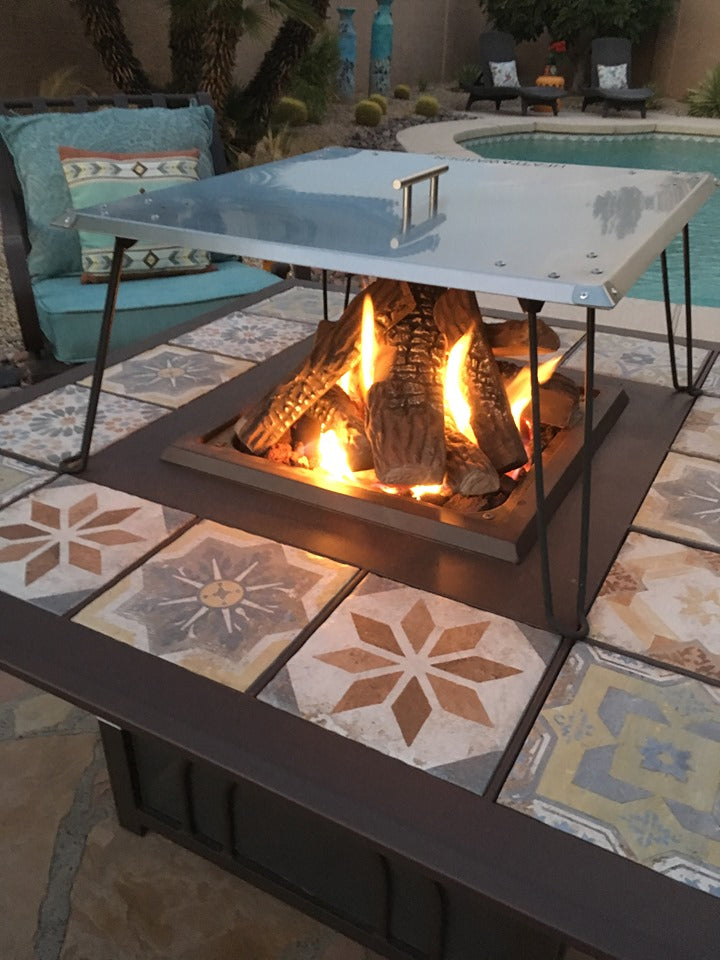 Fire Pit Heat Deflector Heat Warden