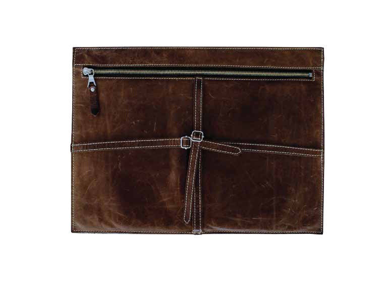 PM basics x KHOI LE Leather Zip Pouch with Straps