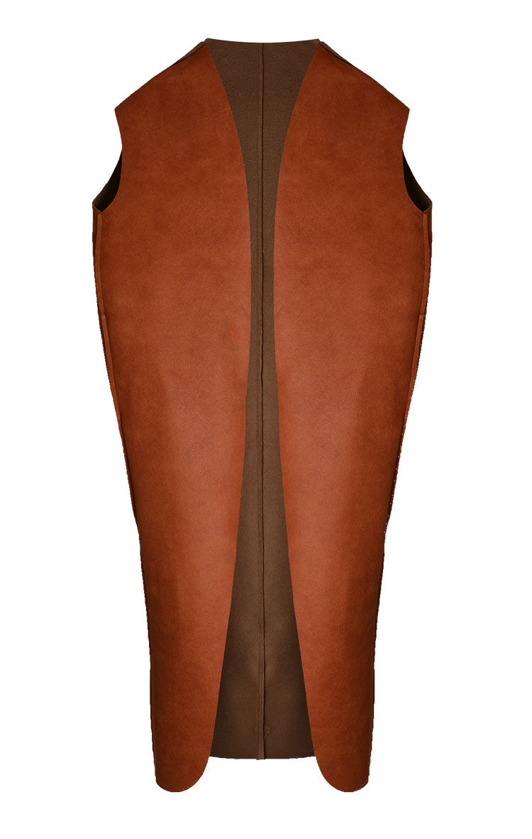 Long Leather Vest