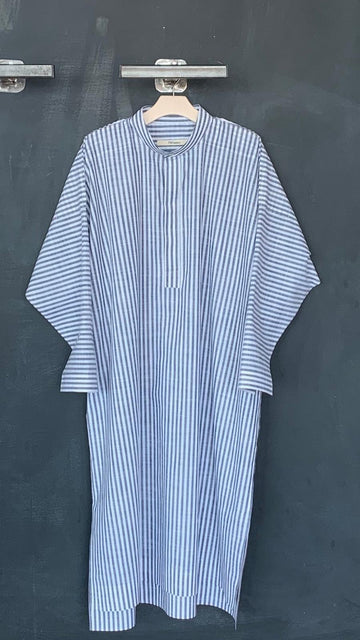 Oversized Shirt Dress Striped