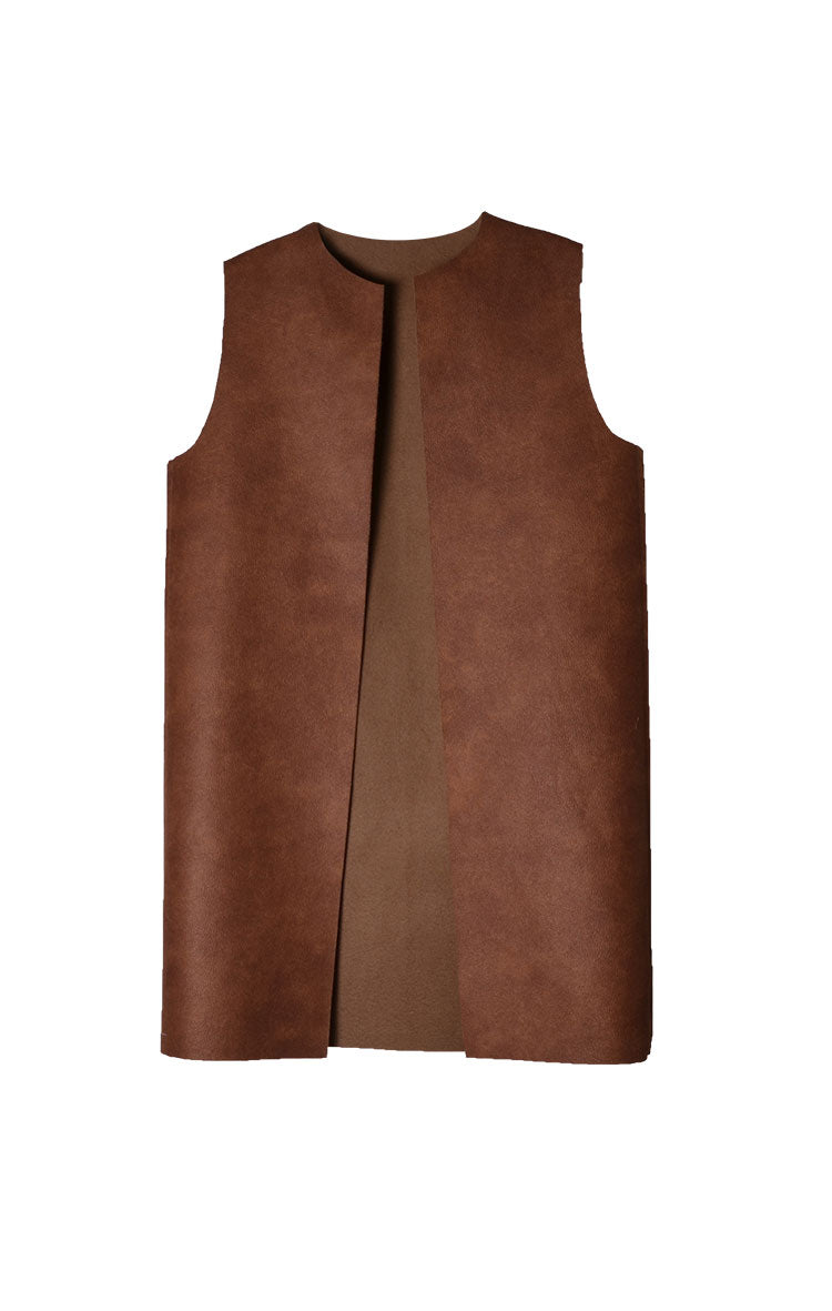 Short Leather Vest