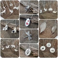 Handmade Sterling and fine silver pendants