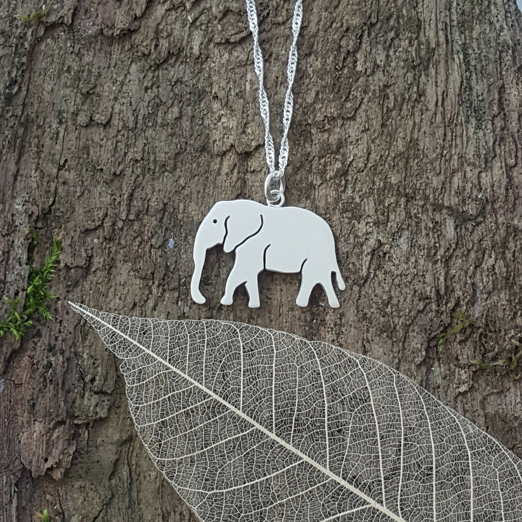 Sterling silver Elephant pendant - Anna Ancell Jewellery