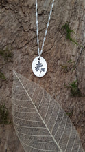 Fine silver leaf/branch pendant - Anna Ancell Jewellery