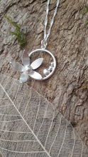 Sterling and fine silver flower pendant - Anna Ancell Jewellery
