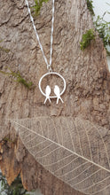 Sterling silver swallows at rest pendant - Anna Ancell Jewellery