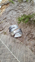 Sterling Silver adjustable feather ring - Anna Ancell Jewellery