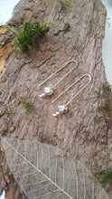 Sterling silver long drop fluted bead earrings - Anna Ancell Jewellery
