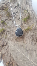 Black Agate druzy pendant in sterling silver - Anna Ancell Jewellery