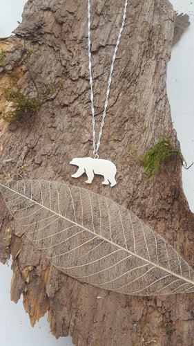 Sterling Silver polar bear pendant - Anna Ancell Jewellery