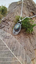 Labradorite pendant in sterling silver with leaf and berry details - Anna Ancell Jewellery
