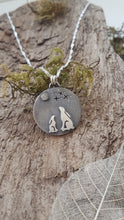 Sterling silver moongazing mother and baby Hare pendant - Anna Ancell Jewellery