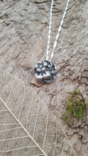 Fine silver flower detail pendant - Anna Ancell Jewellery