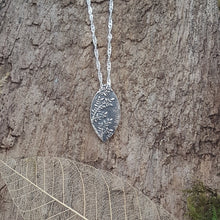 Fine Silver leaf detail pendant - Anna Ancell Jewellery
