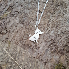 Sterling silver cute dog pendant - Anna Ancell Jewellery