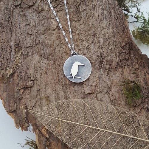 Sterling Silver 'Kingfisher' pendant - Anna Ancell Jewellery