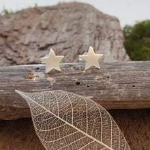 Fine silver mini star earrings - Anna Ancell Jewellery