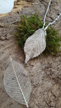 Fine silver leaf pendant - Anna Ancell Jewellery