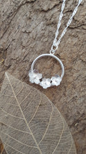 Sterling silver cherry blossom flower pendant - Anna Ancell Jewellery