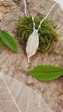 Handmade solid Fine silver leaf pendant/necklace - Made from a real spring leaf - Anna Ancell Jewellery