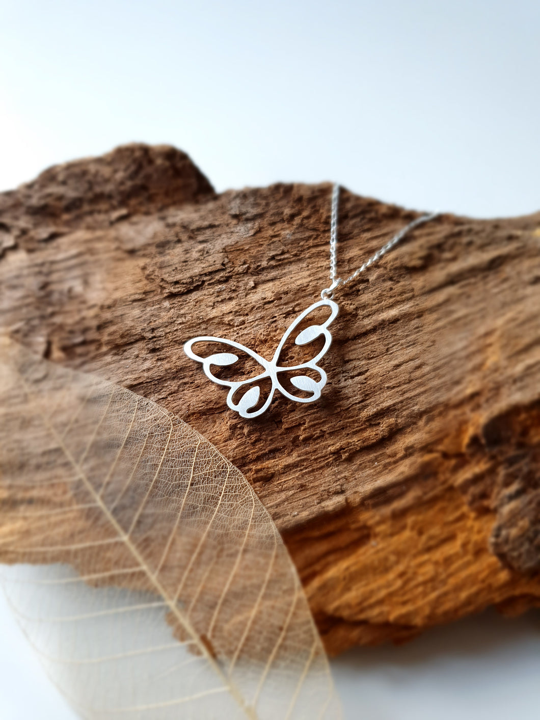 Sterling silver butterfly pendant/necklace