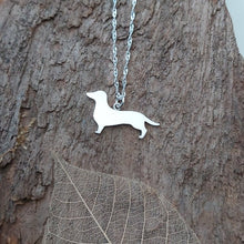 Dachshund dog pendant/necklace/charm - handmade in sterling silver - Anna Ancell Jewellery