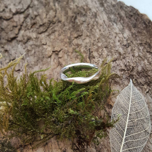 Sterling Silver Twist Ring - Anna Ancell Jewellery